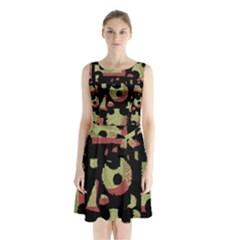 Papyrus  Sleeveless Chiffon Waist Tie Dress