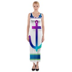 Icon Anchor Containing Fixing Fitted Maxi Dress