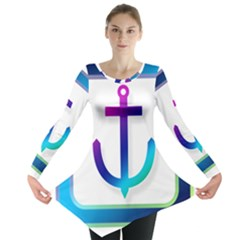 Icon Anchor Containing Fixing Long Sleeve Tunic