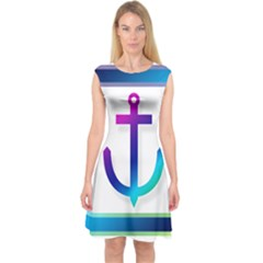 Icon Anchor Containing Fixing Capsleeve Midi Dress