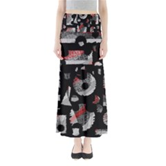 Red shadows Maxi Skirts