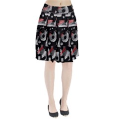 Red Shadows Pleated Skirt