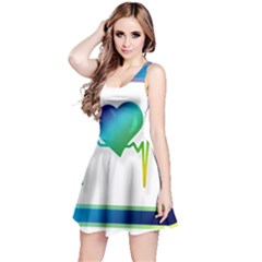 Icon Blood Pressure Pulse Frequency Reversible Sleeveless Dress
