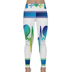 Icon Blood Pressure Pulse Frequency Classic Yoga Leggings