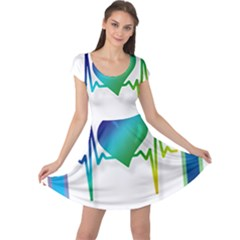 Icon Blood Pressure Pulse Frequency Cap Sleeve Dresses