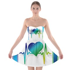 Icon Blood Pressure Pulse Frequency Strapless Bra Top Dress