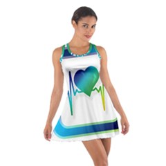Icon Blood Pressure Pulse Frequency Cotton Racerback Dress