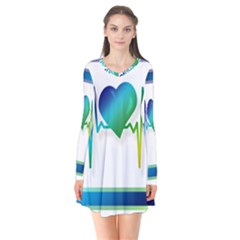 Icon Blood Pressure Pulse Frequency Flare Dress