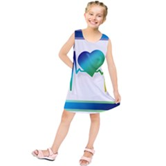Icon Blood Pressure Pulse Frequency Kids  Tunic Dress
