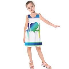 Icon Blood Pressure Pulse Frequency Kids  Sleeveless Dress