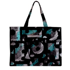 Blue shadows  Medium Zipper Tote Bag