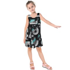 Blue shadows  Kids  Sleeveless Dress