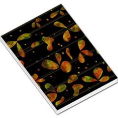 Floral abstraction Large Memo Pads