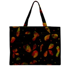 Floral abstraction Medium Zipper Tote Bag