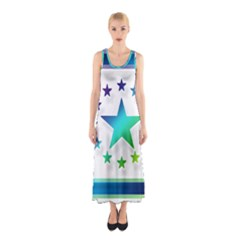Icon Star Europe Symbols Online Sleeveless Maxi Dress