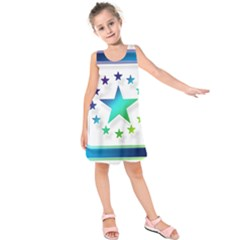 Icon Star Europe Symbols Online Kids  Sleeveless Dress