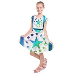 Icon Star Europe Symbols Online Kids  Short Sleeve Dress