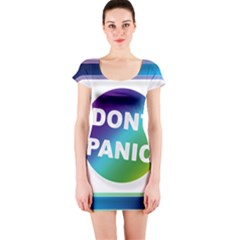 Icon Panic Symbols Online Internet  Short Sleeve Bodycon Dress