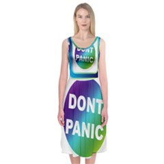 Icon Panic Symbols Online Internet  Midi Sleeveless Dress