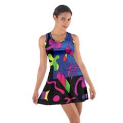 Colorful shapes Cotton Racerback Dress
