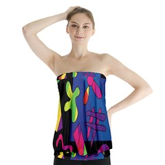 Colorful Shapes Strapless Top