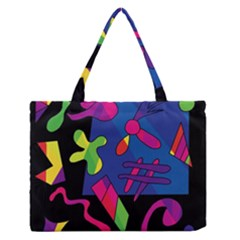 Colorful Shapes Medium Zipper Tote Bag
