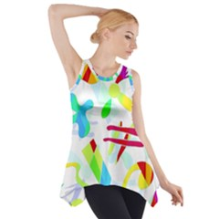 Playful shapes Side Drop Tank Tunic