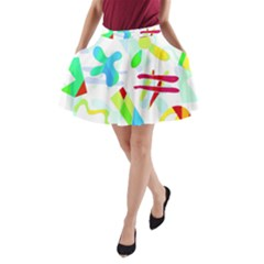 Playful shapes A-Line Pocket Skirt