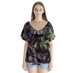 Depression  Flutter Sleeve Top