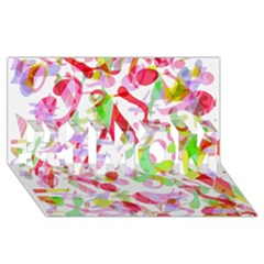 Summer #1 Mom 3d Greeting Cards (8x4)