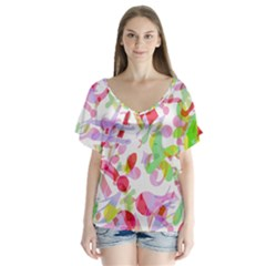 Summer Flutter Sleeve Top