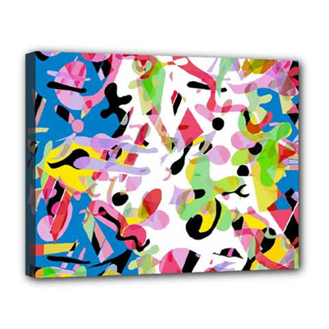 Colorful pother Canvas 14  x 11