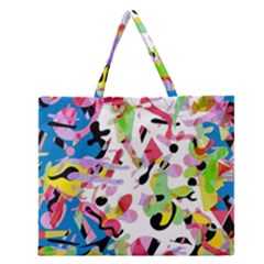 Colorful pother Zipper Large Tote Bag
