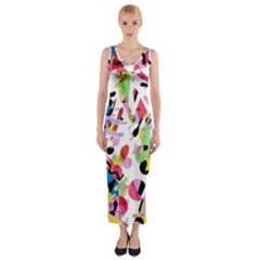 Colorful pother Fitted Maxi Dress
