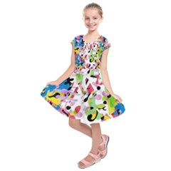 Colorful pother Kids  Short Sleeve Dress