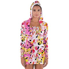 Pink pother Women s Long Sleeve Hooded T-shirt
