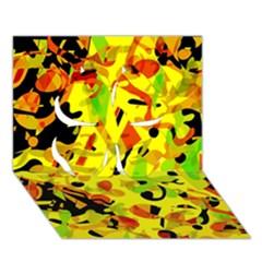 Fire Clover 3d Greeting Card (7x5)