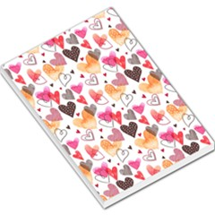 Colorful Cute Hearts Pattern Large Memo Pads