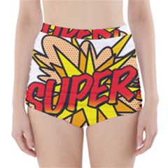 Comic Book Super! High Waisted Bikini Bottoms