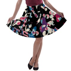 Creative chaos A-line Skater Skirt