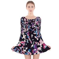Creative chaos Long Sleeve Velvet Skater Dress