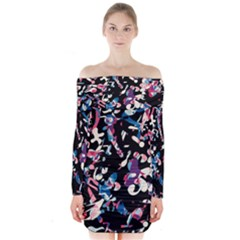 Creative chaos Long Sleeve Off Shoulder Dress