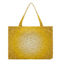 Gold Hearts Pattern Medium Tote Bag