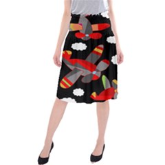 Playful airplanes  Midi Beach Skirt