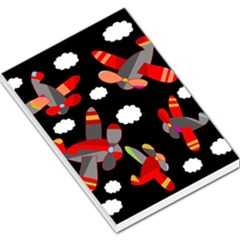 Playful airplanes  Large Memo Pads