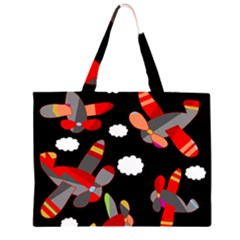Playful airplanes  Large Tote Bag