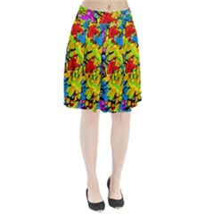 Colorful Airplanes Pleated Skirt