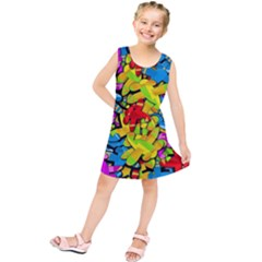 Colorful airplanes Kids  Tunic Dress