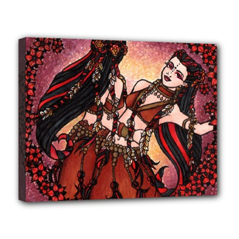 Gemini Tribal Twins Canvas 14  X 11