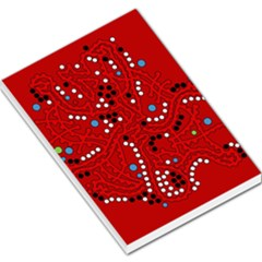 Red fantasy Large Memo Pads